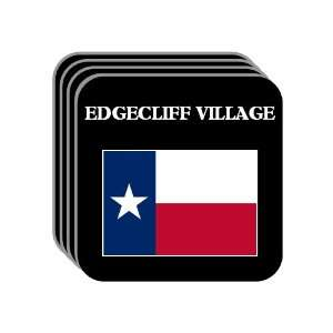 US State Flag   EDGECLIFF VILLAGE, Texas (TX) Set of 4 Mini Mousepad