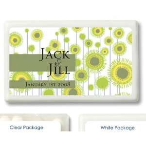 Wedding Favors Yellow Flower Design Personalized Mint Container Favors