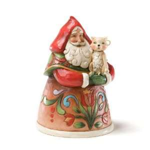 Jim Shore Heartwood Creek from Enesco Santa with Cat