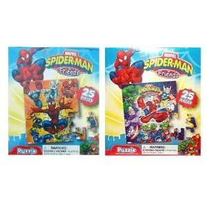 Spider man and Friends 25 Pc Puzzle Pack (2 Puzzles) Toys & Games