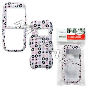 Circle Dots Black Pink Purple Case Cover Snap On Protective for LG