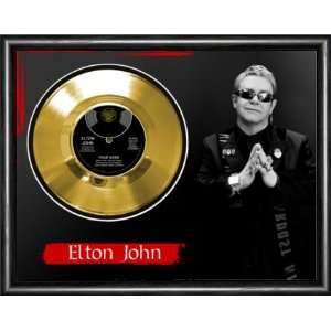Elton John Your Song Framed Gold Record A3 Musical
