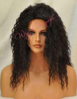 Long Curly Human Hair and Premium Fiber Blend Maya II