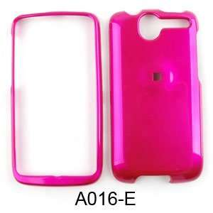 SHINY HARD COVER CASE FOR HTC DESIRE G7 HOT PINK Cell