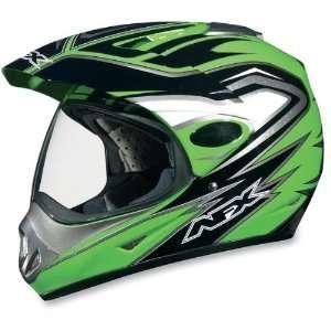 AFX FX 37 DUAL SPORT MOTORCYCLE HELMET GREEN MULTI MD