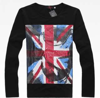 Mens Womens Stylish Casual American flag T shirt Tee 2pcs