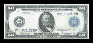 1914 $50 FEDERAL RESERVE NOTE BEAUTIFUL HIGH GRADE EXAMPLE