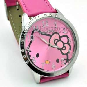 Miss Peggy Jos   Classic Hello Kitty Round Shape Quartz Watch bezel