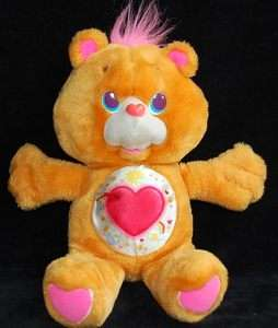 Vintage 1991 TENDERHEART Plush Environment Satin Belly ECO CARE BEAR