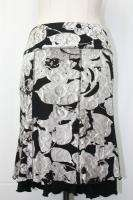 Ribkoff Black Beige Floral Print Skirt Size 8 10 New NWT UK 10 12