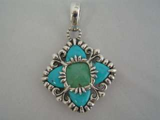 Carolyn Pollack Sterling and Turquoise Pendant