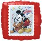 PLUTO MICKEY MOUSE disney PARTY 2 BALLOONS stamp shape