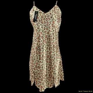 Leopard Tiger Print Negligee PJ Nightgown Plus 1X 2X 3X #S105155
