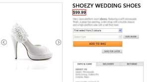 SHOEZY ladies White flower satin wedding bridal shoes