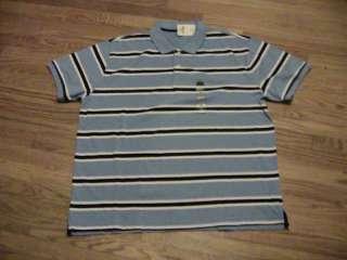Mens blue pique polo shirt XXL short sleeve @@NWT