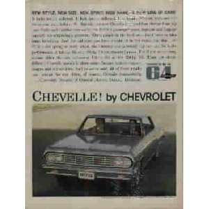 1964 Chevrolet Chevelle Malibu Sport Coupe Ad, A3952