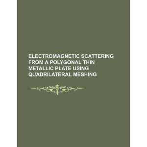 Electromagnetic scattering from a polygonal thin metallic