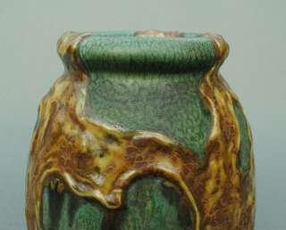 Rare Early WELLER EXPERIMENTAL Globby Glaze Art Pottery Vase   Very