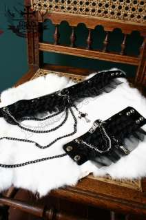 GOTHIC DOLL EGL/tiered lace/lolita/ruff COLLAR+CUFF 3PC