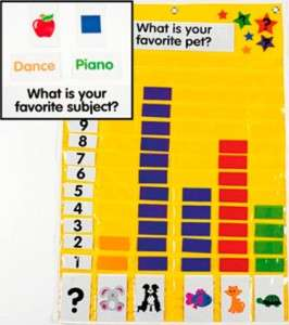 Bar Graph POCKET CHART Teacher Supplies Math Set Class