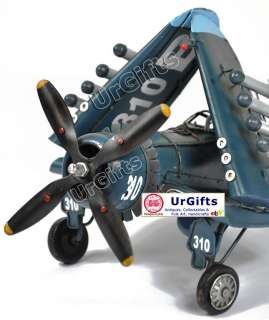 Hand Made Metal Art Bar Model WWII Fighter Plane 1944 F4U 4 Propeller