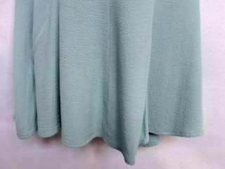boutique NICHE aqua seafoam blue RAYON CREPE blouse skirt OUTFIT M NWT