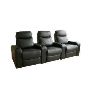 Modern Furniture  Cannes Home Theater Seats (3) Black