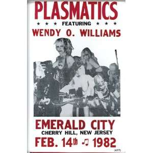 Plasmatics with Wendy O Williams 1982 14 X 22 Vintage Style Concert