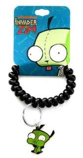 Invader Zim Charm Rubber Coil Key Chain Ring Bracelet