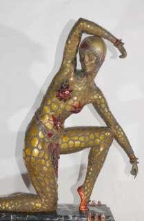 Fan Dancer Art Deco Bronze by Chiparus