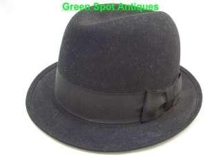 Fur Felt Gentlemans Black Fedora Hat, Elks Mens Wear Royal