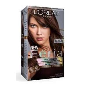 Loreal Feria Hair Color Gel #45 Deep Bronzed Brown (French