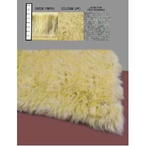 Flokati Faux Fur Rugs 3 x 5 (Canary Yellow) Home