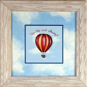 Hot Air Balloon Cloud Kids Room Decor Art Framed Print