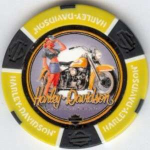 DAVIDSON Beauties Pinup poker chip samples 206 (small flaw)