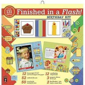 Finished In A Flash Page Kit 12X12 Birthday Arts