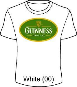 St. Paddys Day Guinness Beer fun t shirt Irish Oval