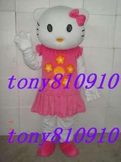New Adult hello kitty cat mascot Costume