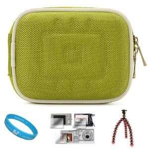 Nylon Green Durable Compact Digital Camera Carrying Case