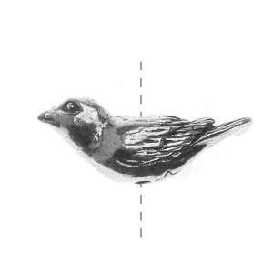 Green Girl Studios Pewter Flying Bird Bead 21mm (1) Arts