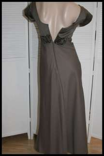 CHAMPAGNE FORMALS ~ Satin Crepe Long DRESS / GOWN ~Sz 4