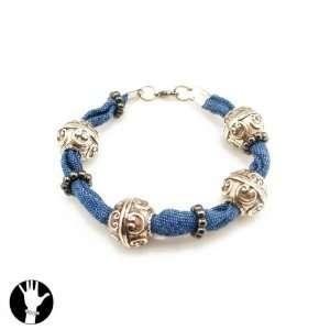 SG Paris Bracelet Rhodium Jean Ble Fonc/Monta/Saphi Bracelet Bracelet