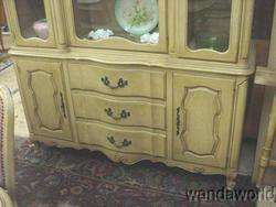 DREXEL FRENCH PROVINCIAL DINING ROOM SUITE TABLE CHAIRS CHINA CABINET