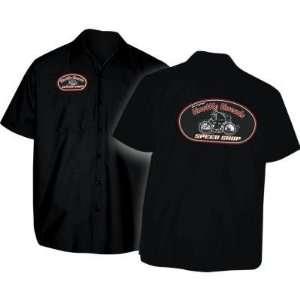 Throttle Threads Speed Shop Logo Shop Shirt , Gender Mens