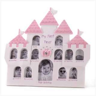 PRINCESS PHOTO FRAME Pink Baby Girl Picture Display NEW