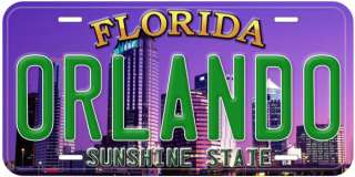 Orlando Florida Metal Car Auto Novelty License Plate