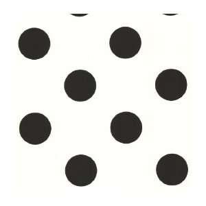 Just Kids KW7677 Large Polka Dot Wallpaper, Black