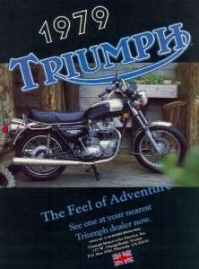 1979 Triumph Bonneville 750 Motorcycle Original Color Ad