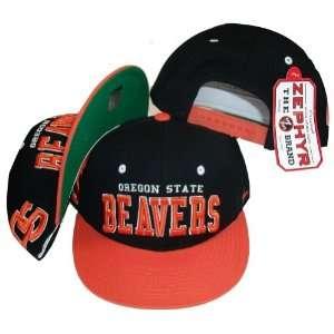 Oregon State Beavers Two Tone Black/Orange Snapback Adjustable Plastic