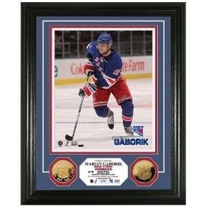 New York Rangers Marian Gaborik 24KT Gold Coin Photo Mint